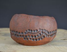 """Rustic Unglazed Bonsai Accent Pot, 4 1/4"""" 4 1/4 in dia 2 3/4 in overall height"""