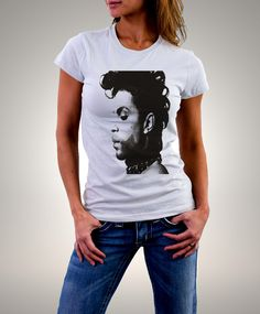 """t shirt prince - T shirt femme  """"prince picture"""" - t shirt prince - hommage prince - tshirt femme - t shirt - t-shirt - prince illustration de la boutique Biosphereshop sur Etsy"""