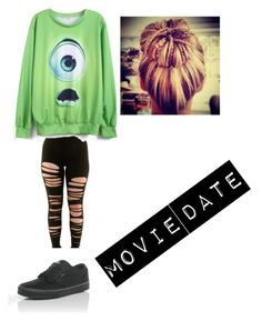 """""""Movie Date : )"""" by dontbeabish ❤ liked on Polyvore featuring Vans"""