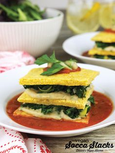Vegan Socca Stacks, dairy-free and gluten-free >> Dianne's Vegan Kitchen