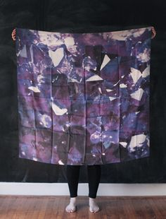 AMETHYST SILK SCARF - good juju abounds! only good things can come when you frame your birthstone scarf and hang in your home, right?