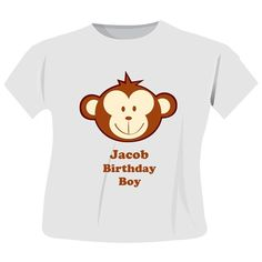 Personalised Monkey Boy T-Shirt  from Personalised Gifts Shop - ONLY £12.99