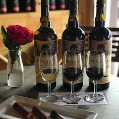 Father Day Special $17 for a bourbon barrel wine flight and truffle pairing!