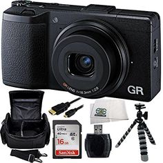 Ricoh GR 16.2 MP Digital Camera with 3.0-Inch LED Backlit (Black) + 16GB Bundle 6PC Accessory Kit. Includes SanDisk Ultra 16GB Class 10 SDHC Memory Card (SDSDUN-0016G-G46) + High Speed Memory Card Reader + Carrying Case + Flexible Gripster Tripod + Micro HDMI Cable + Microfiber Cleaning Cloth  http://www.lookatcamera.com/ricoh-gr-16-2-mp-digital-camera-with-3-0-inch-led-backlit-black-16gb-bundle-6pc-accessory-kit-includes-sandisk-ultra-16gb-class-10-sdhc-memory-card-sdsdun-0016g-g46-..