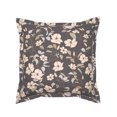 Clematis Old Times on Serama by jaanahalme | Roostery Home Decor Pillow Cover Design, Throw Pillow Covers, Throw Pillows, Cozy Bed, Clematis, Natural Texture, Basket Weaving, Pillow Inserts, Color Splash