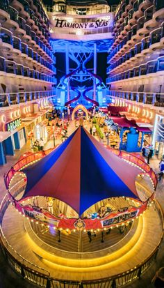 Harmony of the Seas | Epic always on rotation. A stroll through the boardwalk onboard Royal Caribbean's Quantum Class cruise ships is a stroll through adventure. Get where you need to be the right way.