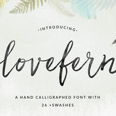 """Meet the latest #angiemakes font... Lovefern. As in, """"Don't kill the love fern!"""" #namethatmovie This font is seriously chocked full to the brim of swashes. You're gonna love it! #font #fonting #typedesign #typespire #typeface #handwritten #calligraphy #fontdesign #lettering #typography #handwritten #moderncalligraphy"""