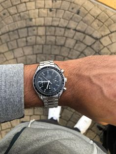 Too small on my wrist? : WatchesYou can find Omega speedmaster and more on our website. Too small. Omega Speedmaster Moonwatch, Omega Speedmaster Reduced, Omega Seamaster, Sport Watches, Cool Watches, Rolex Watches, Wrist Watches, Pocket Watches, Skeleton Watches