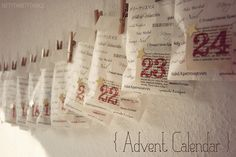 {DIY advent calendar}