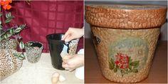 Eggshells for Decor - So Crafty Little Bit Of You, Egg Shells, Diy Hacks, Master Class, Decorative Items, Flower Pots, Minion, Decoupage, Planter Pots