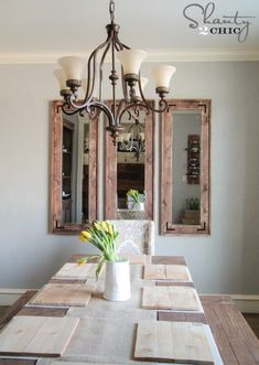 Learn how to build this DIY Full Length Mirror with free plans and tutorial by This is a budget-friendly project that is perfect for beginners! Decor, Full Length Mirror Diy, Rustic Mirrors, Mirrored Furniture, Rustic Diy, Home Decor, Dinning Room Wall Decor, Mirror Dining Room, Rustic Dining Room