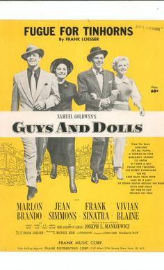 Fugue For Tinhorns Guys And Dolls Vintage Sheet Music