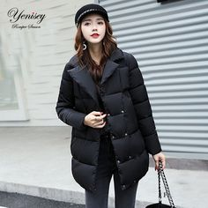 Dow parka women down jacket winter coat winter parka cotton padded jacket Woman Winter Jacket Coat 2017 Free Shipping Brand Name:Yenisey  #woman_clothes#Winter_clothes#parka #Style #fashion #popular #beautifulr #Brand Name:Yenisey