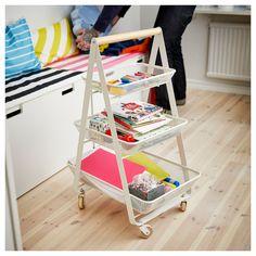 RISATORP Utility cart, white - IKEA Ikea Storage, Extra Storage, Craft Storage, Ikea Trolley, Ikea Cart, Kitchen Island Trolley, Ikea Portugal, Fantasy Bedroom, Art Cart