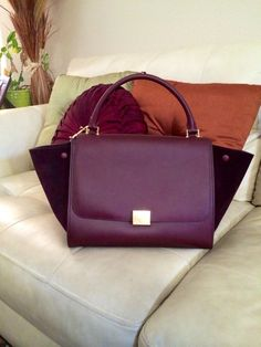 "bag celine price - Celine trapeze tricolor all leather ""blood"" 