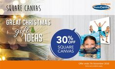 30% OFF Christmas Gift Ideas - Square Canvas @ Harvery Norman Photos - Bargain Bro