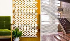 An Affordable Screen Partition: Spring Flower Curtain