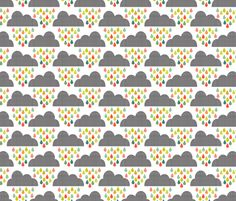 Happy Rain Pastels fabric by natitys on Spoonflower - custom fabric