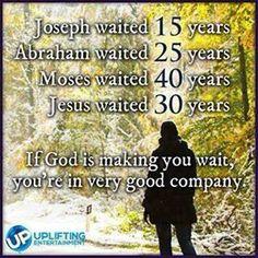 Waiting..  please God.....