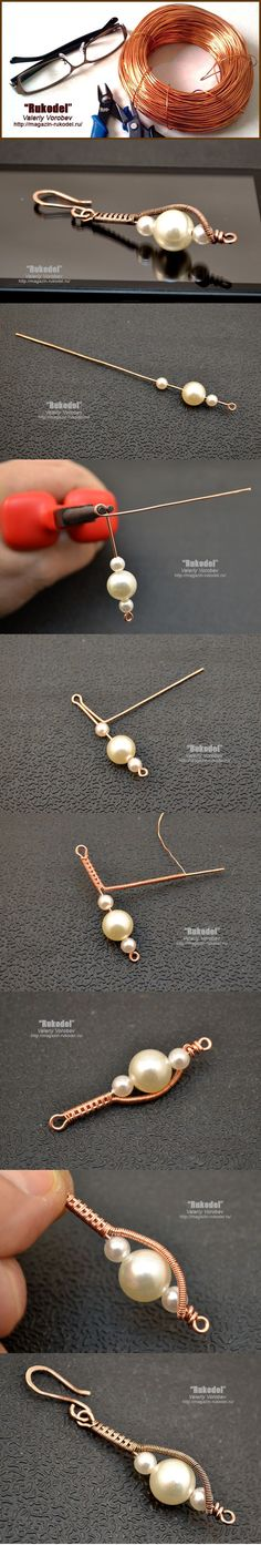 Wire Jewelry. Wire wrap tutorial - http://magazin-rukodel.ru/