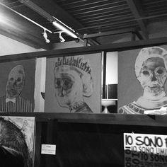 Piergiorgio Del Ben Anonymous project #Arte #mostra #milano #figurativo #interno99 #artista #blu #contemporaryart #artist
