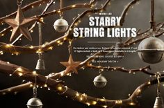 uses for starry string lights | Micro-LED Starry String Lights for Indoor and Outdoor Use.