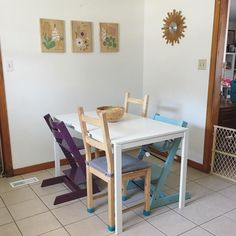 We also got a new table and redid the art on the wall.  I love my little house.