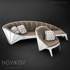 Strabo Sofa & Chair - original Colour scheme by Novikov Designs www.novikovdesigns.co.uk