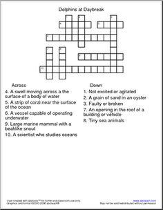 magic tree house crosswords