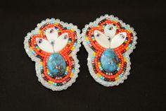Beaded earrings by Becky Bigfire Elkshoulder