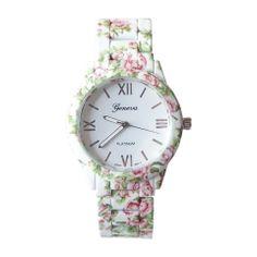 Zegarek kwiaty drobne biały idealny na wiosnę