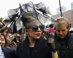 Lady Gaga arrives at Harvard University to launch her Born This Way Foundation in Cambridge, Massachusetts February 29, 2012.   REUTERS-Bria...