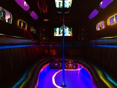 We offer party bus rental for all special occasions such as birthdays, proms, bachelor parties, girls' nights out, karaoke, and much more. Enjoy a night out on the town with a designated driver.