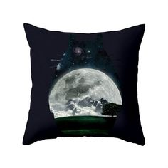 Dot & Bo Moonrise Totoro Pillow - Pillow Cover Only ($31) ❤ liked on Polyvore featuring home, home decor and throw pillows