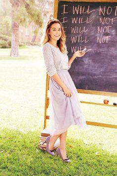 LC Lauren Conrad for Kohl's Sweater & Tulle Midi Skirt