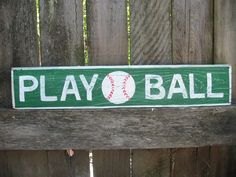 PLAY BALL.....Vintage Style Baseball Athletic by GeorgiasSigns, $25.00