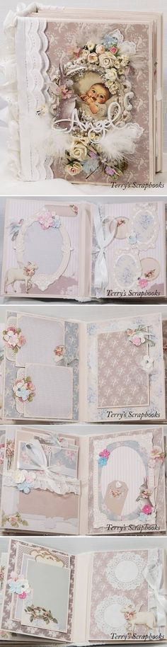 I created this mini album using Tilda All That Is Spring paper pad. I just love the bunnies and lambs with wings, they made me think of b...