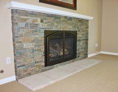 Black slate fireplace surround Remodel Ideas Pinterest