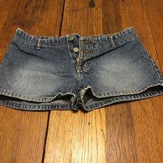 Jean shorts Paris Blues jean shorts! No front projects but does have back pockets. Paris Blues Shorts Jean Shorts