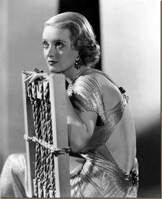 Bette Davis, c.1930s #thebackofthatdress !