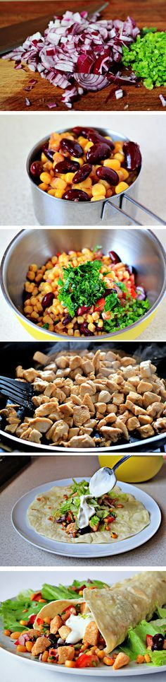 Chicken Burritos   Homemade Food Recipes