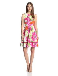 Eliza J Women's Sleeveless Floral Printed Fit and Flare Dress, Pink, 4 Eliza J http://www.amazon.com/dp/B00I7POESE/ref=cm_sw_r_pi_dp_Z11Itb1RNKSDMZ9Z