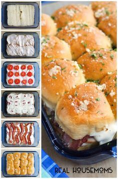 KENTUCKY HOT BROWN SLIDERS are a twist on the classic open-faced sandwich that features turkey, bacon, tomatoes and a Pecorino Romano cheese sauce!