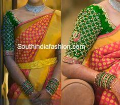 Gorgeous Blouse for Wedding Sarees ~ Celebrity Sarees, Designer Sarees, Bridal Sarees, Latest Blouse Designs 2014