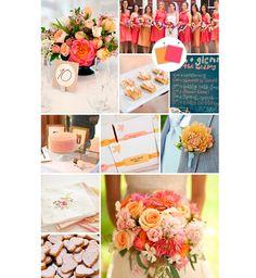Decoração de casamento rosa e mostarda