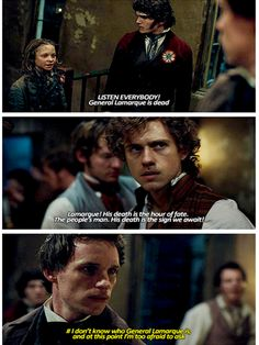 I am Marius and Marius is me. I read the book (WHICH IS THICKER THAN LIKE TWO BIBLES) and watched the movie and am in the fandom and I still have no clue who the actual heck General LaMarque is.