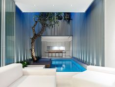 Architects ONG & ONG designed a 3,100 square-foot, contemporary interior renovation of a Heritage Art Deco Style terrace home in Singapore. The project was called 55 Blair Road, completed in 2009. The concept was to create an open floor plan that promotes harmony between the interior and exterior spaces. The wall-less design of the home's …
