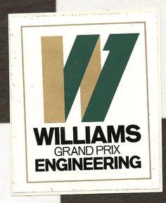 WILLIAMS GRAND PRIX ENGINEERING F1 ORIGINAL PERIOD STICKER ADESIVO AUTOCOLLANT