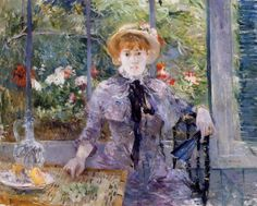 "artist-morisot: "" After Luncheon by Berthe Morisot Medium: oil on canvas"""