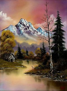 bob ross evenings glow painting - bob ross evenings glow paintings for sale. Shop for bob ross evenings glow paintings & bob ross evenings glow painting artwork at discount inc oil paintings, posters, canvas prints, more art on Sale oil painting gallery. Bob Ross Paintings, Easy Paintings, Paintings For Sale, Beautiful Paintings, Beautiful Landscapes, Indian Paintings, Oil Paintings, Watercolor Landscape, Landscape Art
